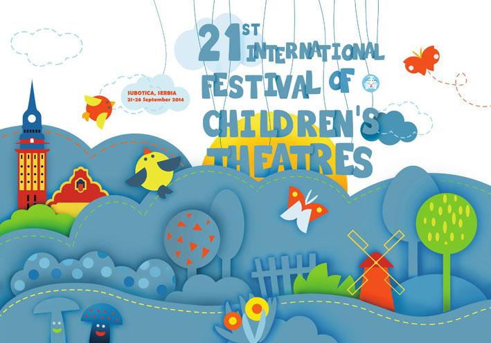 plakat 21. Medjunarodnog festivala pozorista za decu u Subotici horizontalni