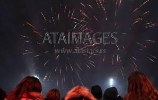 New Year's Eve in front of the of the National Assembly of the Republic of Serbia with Bajaga i instruktori. Docek Nove godine ispred doma Narodne Skupstine Republike Srbije uz Bajagu i instruktore