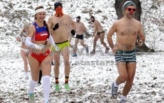 Winter races in their underwear - underpants RUN BELGRADE 2017 held at Ada Ciganlija.Zimska trka u donjem vesu - BELGRADE UNDERPANTS RUN 2017 odrzana na Adi ciganliji.