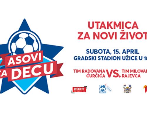"""Nastavak fudbalskog humanitarnog spektakla """"Asovi za decu"""" 15. aprila u Užicu"""