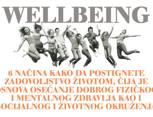 Šest načina da postignete wellbeing