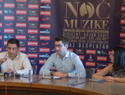 Druga Noć muzike na Tašmajdanu 1. septembra