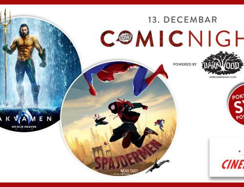 Akvamen i Spajdermen zajedno na Comic night događaju