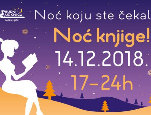 Noć knjige – 14. decembra od 17 sati do ponoći!