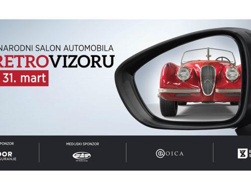 Kolona veličanstvenih spremna za start salona automobila