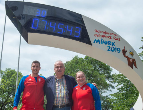 Olimpijski sat na Terazijama odbrojava  30 dana do početka drugih Evropskih igara