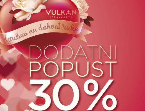 Ljubavni romani po sniženim cenama na sajtu Vulkan izdavaštva