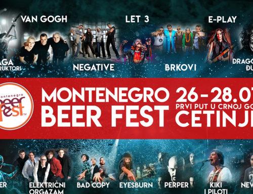 Montenegro Beer Fest 26-28. jul Cetinje – više od 23 sata besplatnog muzičkog programa
