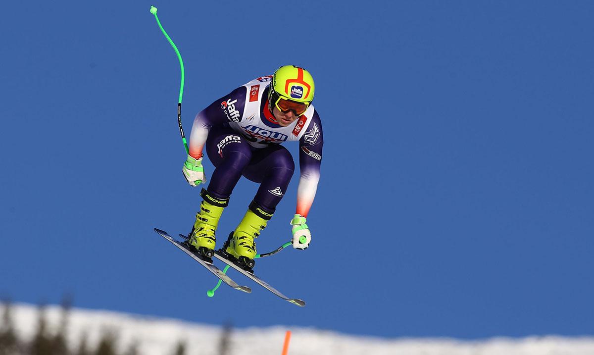 Skijaš Marko Vukićević trenira na glečeru Saas Fee