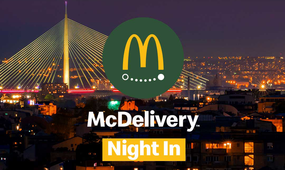 """McDonald's u Srbiji se po prvi put pridružuje globalnoj akciji """"McDelivery Night"""" 19.septembra 2019."""