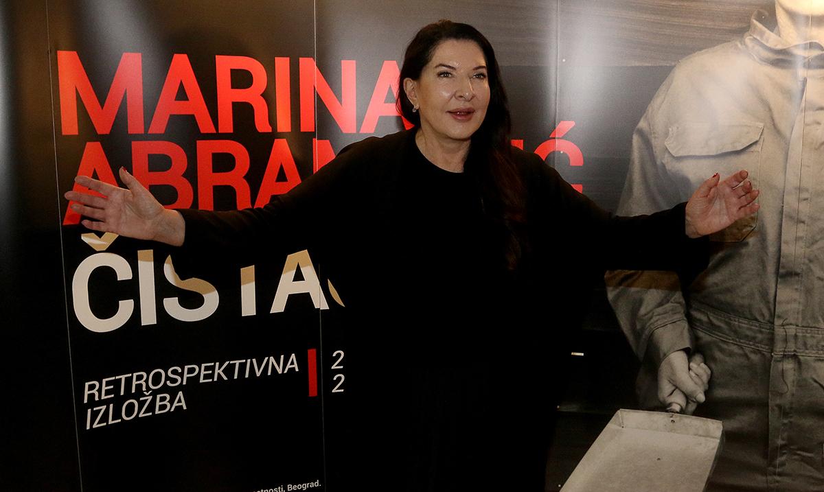 """Marina Abramović u prvom obraćanju javnosti pozvala domaću publiku da pogleda izložbu: """"Čistač kao metafora za oslobađanje prošlosti, svesti, spiritualnog i fizičkog"""""""