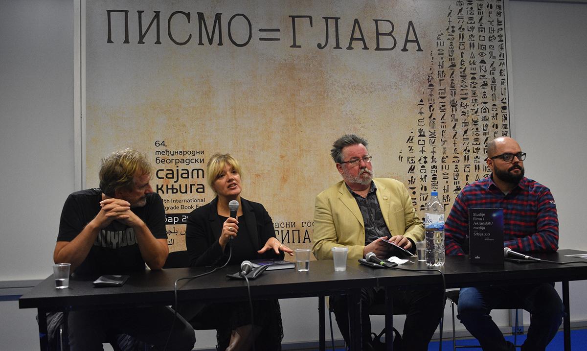 """Održana promocija knjige """"Studije filma i /ekranskih / medija: Srbija 3.0"""" dr Nevene Daković na 64. Međunarodnom sajmu knjiga u Beogradu"""