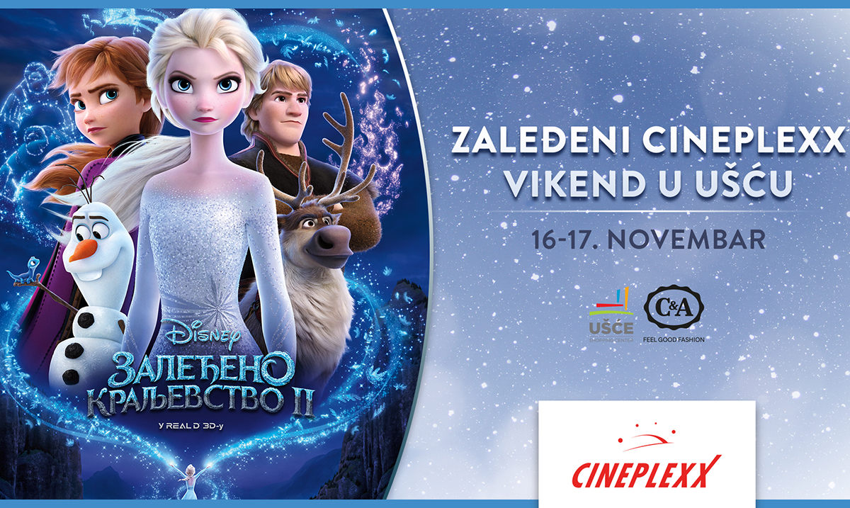 Zaleđeni Cineplexx vikend u UŠĆE Shopping Center-u