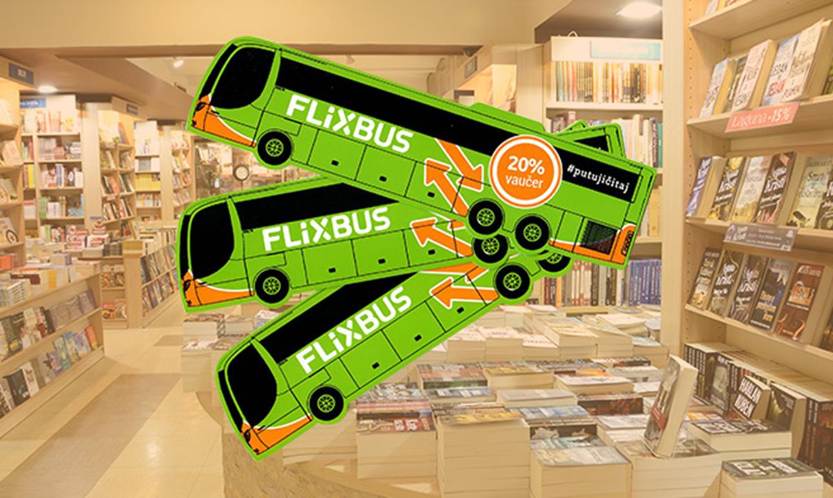 FlixBus poklon vaučeri u knjižarama u Beogradu i Novom Sadu