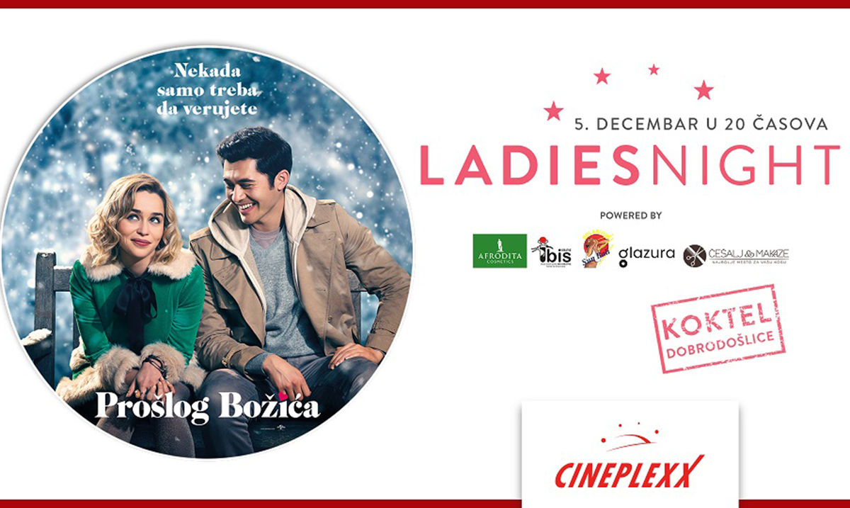 "Ladies night uz film ,,Prošlog Božića"" 5. decembra u Cineplexx bioskopima"