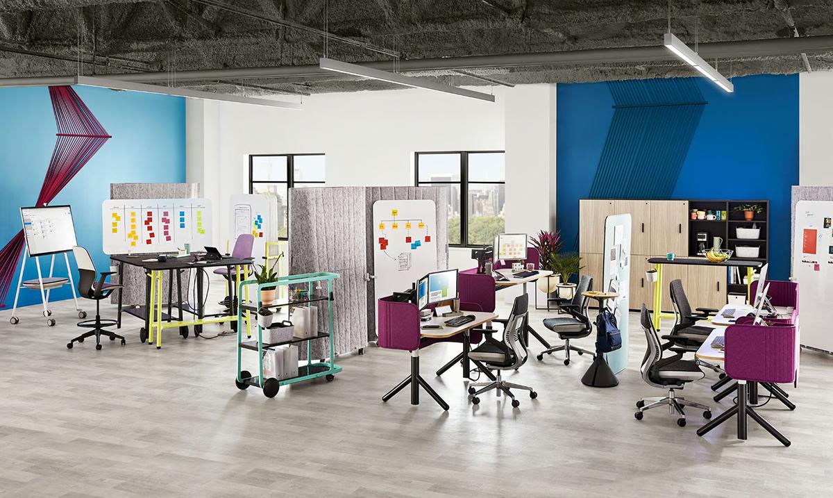 Osigurajte privatnost ili delite ideje s kolegama pomoću Steelcase Flex kolekcije