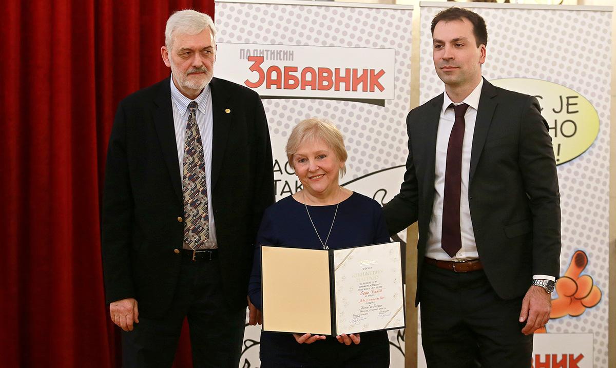 Sonji Ćirić svečano uručena Nagrada Politikinog Zabavnika
