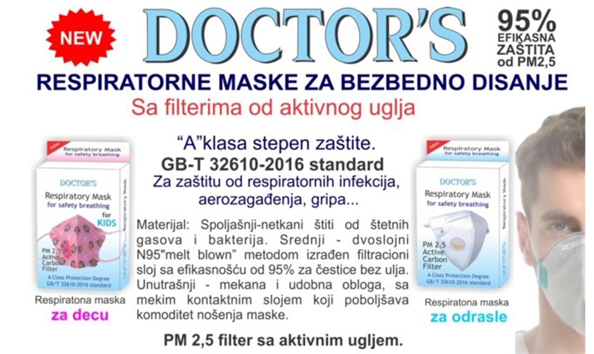Maske za zaštitu od aerozagađenja od subote dostupne u apotekama Lilly drogerie