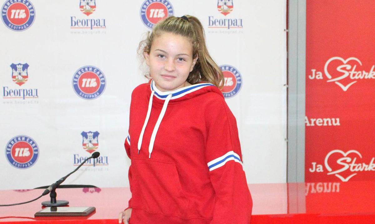 Novi srpski juniorski broj 1, srpska teniska senzacija, 14-godisnja Tijana Sretenović