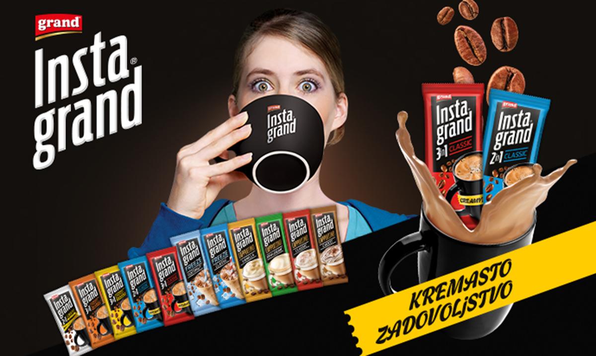 Da li ste spremni za kremasto uživanje? Grand kafa je za vas pripremila potpuno novi proizvod – Insta Grand
