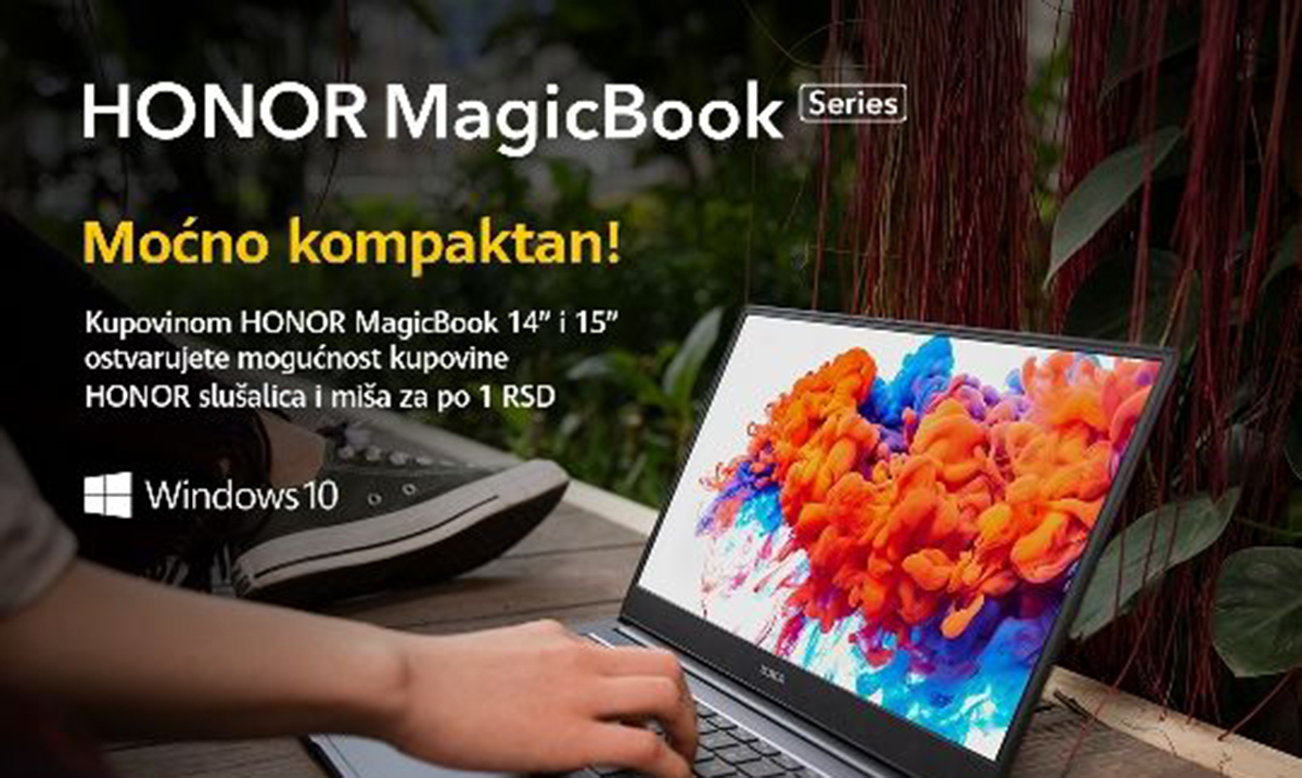 HONOR Magic Book akcija u Tehnomaniji, WinWin-u i Emmi Shop-u