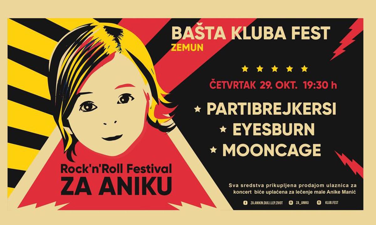 FEST #ZaAniku – Partibrejkersi, S.A.R.S., KKN i drugi na humanitarnim koncertima za Aniku Manić
