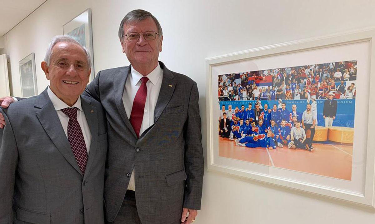 Predsednici FIVB i CEV obeležili 20 godina od zlata Jugoslavije u Sidneju
