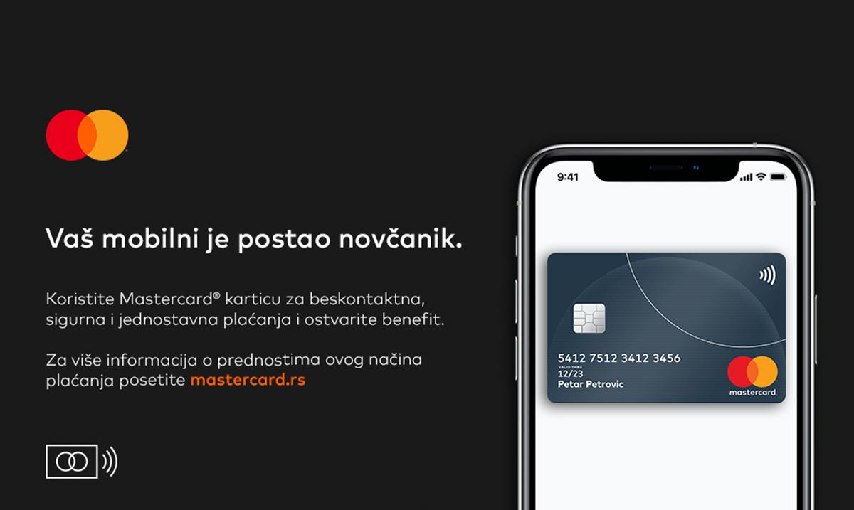Nova pogodnosti za Mastercard korisnike – 600 dinara povraćaja novca za mobilna plaćanja