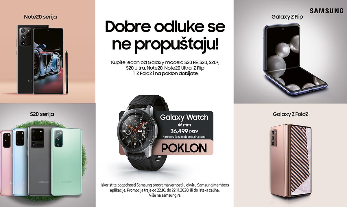 Otvorena sezona darivanja: Samsung Galaxy Watch 46mm na poklon uz kupovinu odabranih uređaja