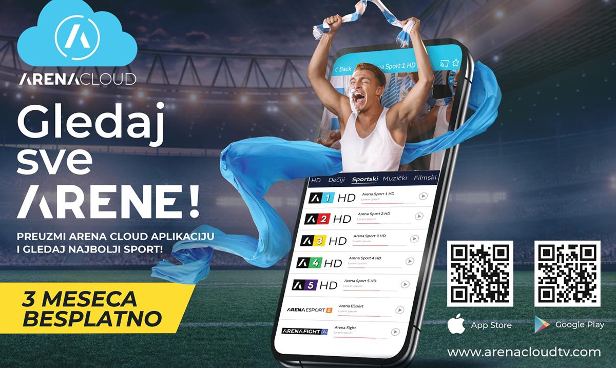 Arena Sport kanali dostupni baš svima –  lansirana Arena Cloud aplikacija