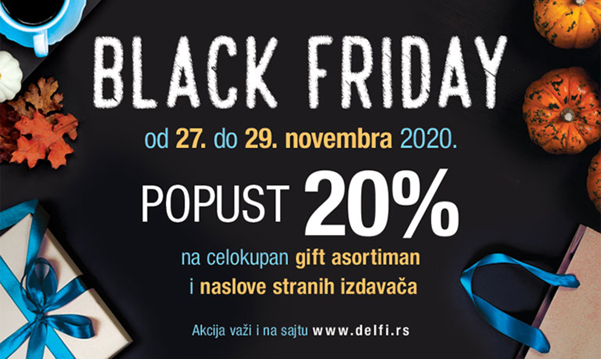 Black Friday u Delfi knjižarama i na sajtu delfi.rs