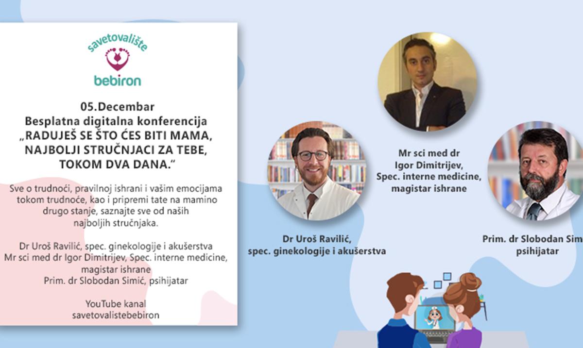 Besplatna digitalna konferencija za roditelje 5. i 6. decembra na YouTube kanalu Savetovališta Bebiro