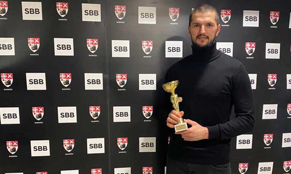 Odbojkašu Radničkog Irfanu Hamzagiću priznanje za sportistu godine grada Kragujevca