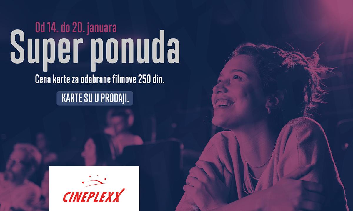 Januarski filmski maraton po ceni od 250 dinara u Cineplexx bioskopima
