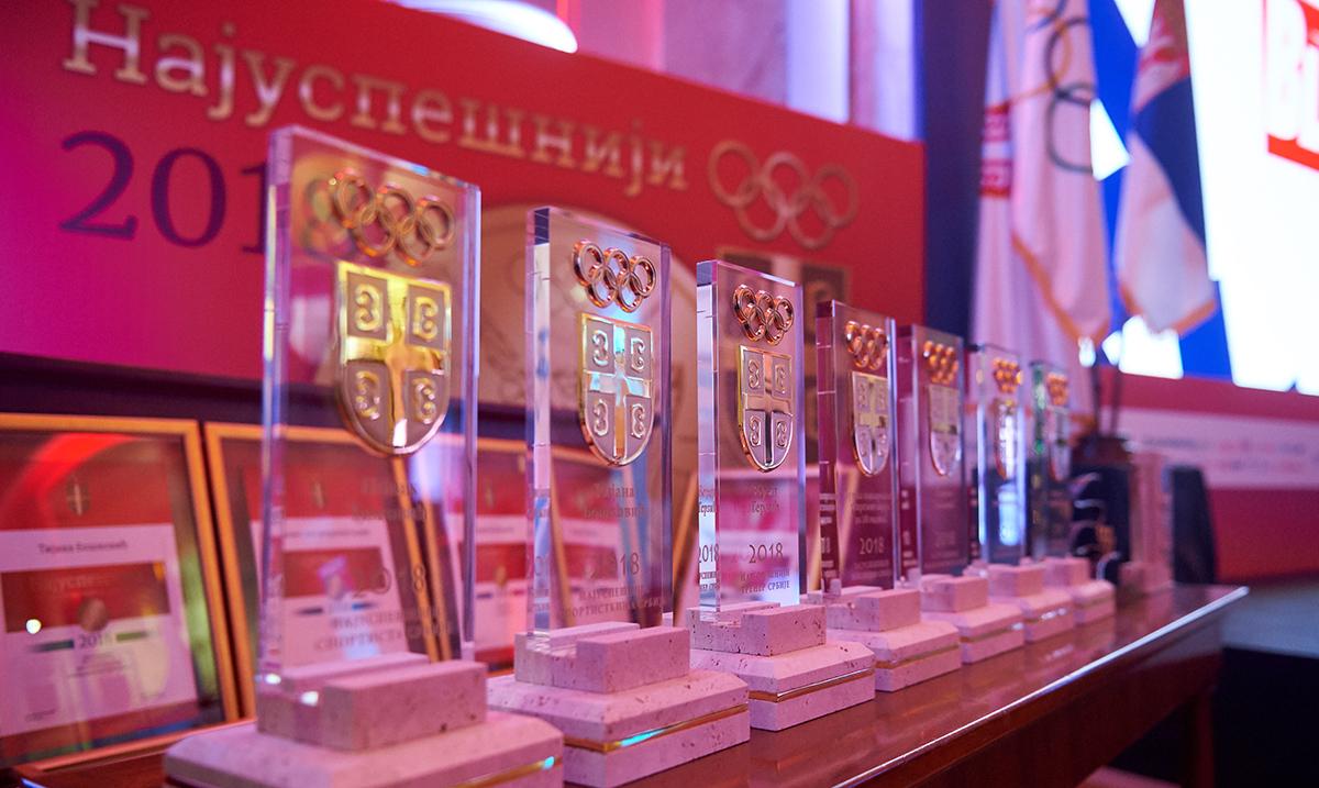 U ponedeljak 27. po redu dodela trofeja Olimpijskog komiteta Srbije najuspešnijim sportistima