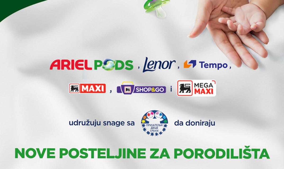 Procter & Gamble donirao posteljine za bebe porodilištima u Srbiji