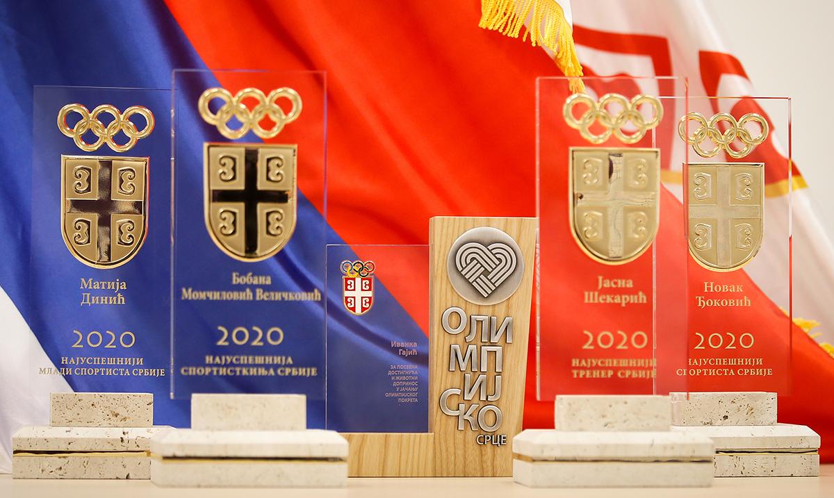 Olimpijski komitet Srbije proglasio najuspešnije sportiste i trenere u 2020. godini